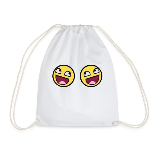Boxers lolface 300 fixed gif - Drawstring Bag