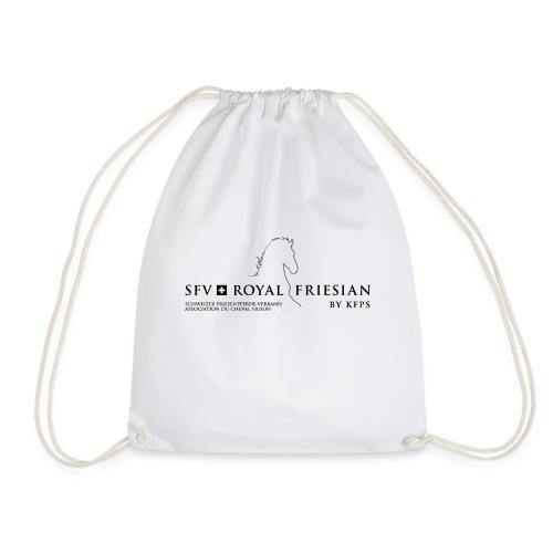 SFV Royal Friesian Schwarz Transparent - Turnbeutel