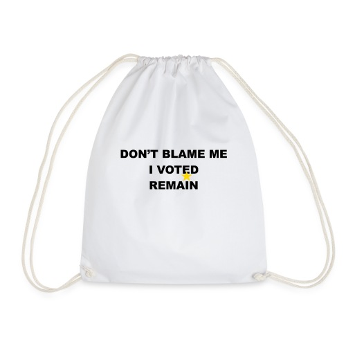 don't blame me 2 - Drawstring Bag
