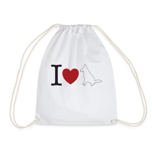 I LOVE White Dog - Worek gimnastyczny