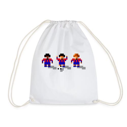 Soccer Red and Blue Stripes - Drawstring Bag