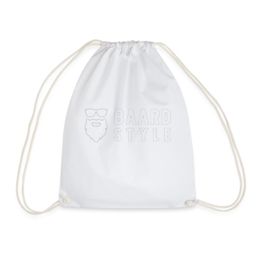 BaardStyle_1-white hoodie - Gymtas