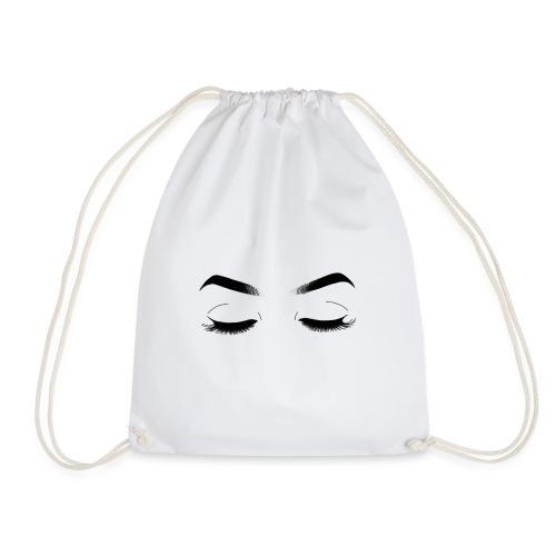 Closed eyes - Drawstring Bag
