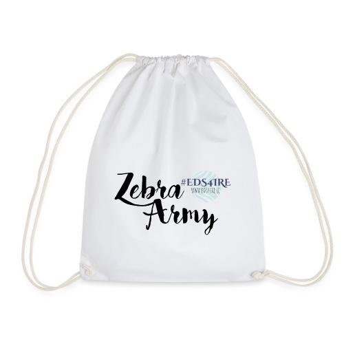 Zebra Army (black) - Drawstring Bag