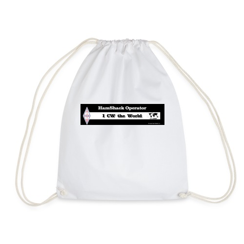 Tshirt Back Text CWtheworld - Drawstring Bag