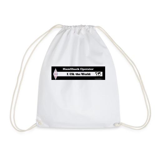 Tshirt Back Text CQtheworld - Drawstring Bag