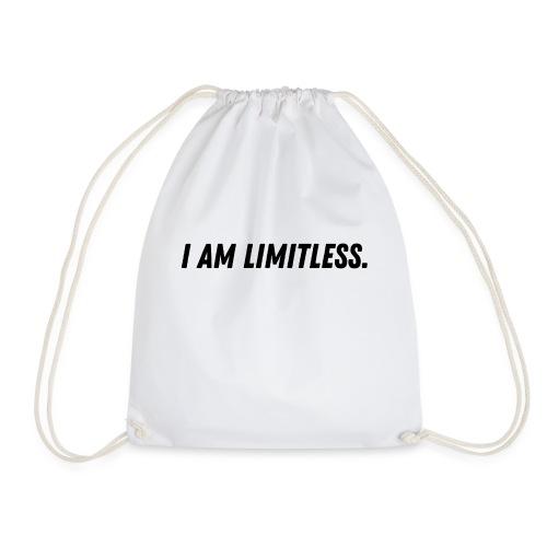 I am limitless. Ich bin grenzenlos. - Turnbeutel