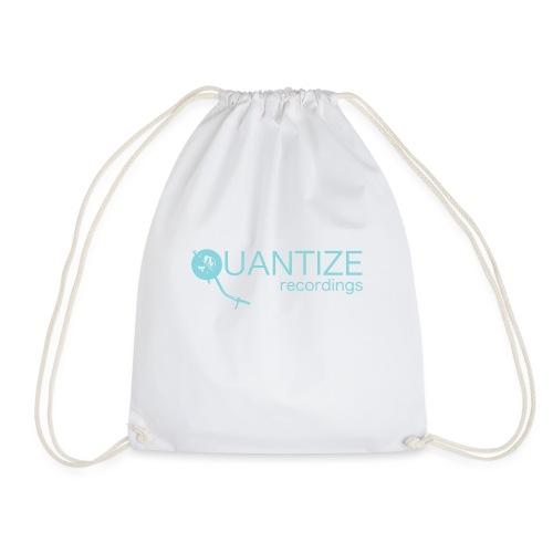 Quantize Blue Logo - Drawstring Bag