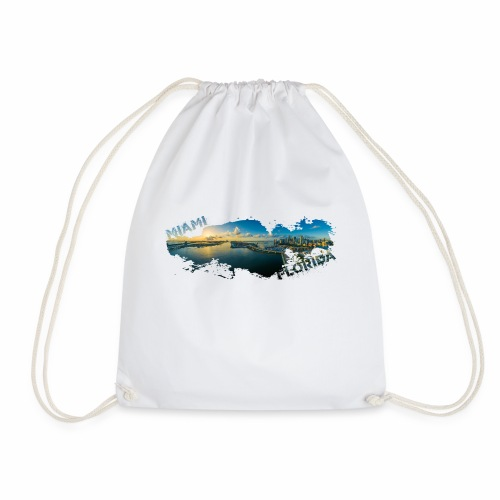 Miami Florida Splash - Drawstring Bag