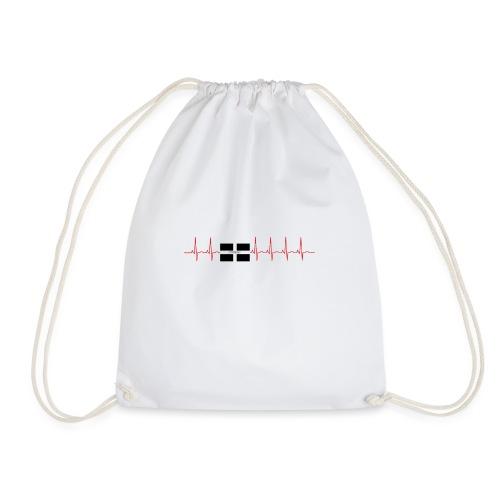 cornwall pulse - Drawstring Bag