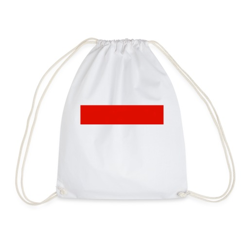 Red Rectangle - Drawstring Bag