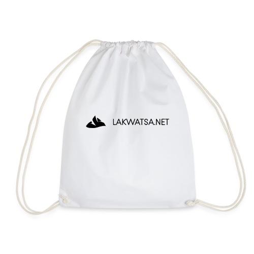 Black logo no background - Drawstring Bag