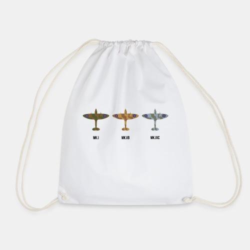 Spitfire fighter plane / camouflage pattern - Drawstring Bag