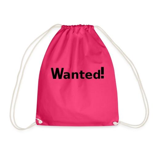 Wanted. schwarz - Turnbeutel