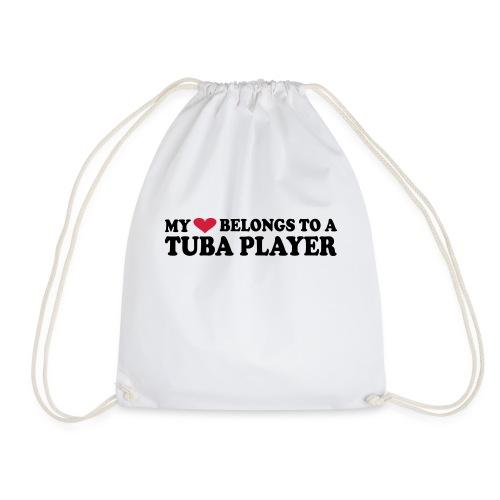 MY HEART BELONGS TO A TUBA PLAYER - Drawstring Bag