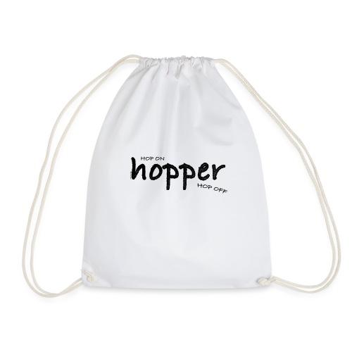 MuchoHop Hop On/Off (black) - Drawstring Bag