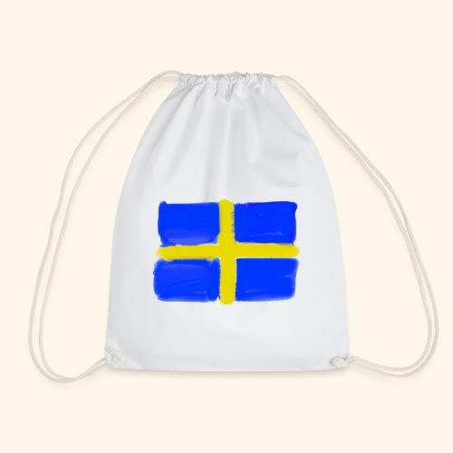 Swedish flag in Watercolours - Gymnastikpåse