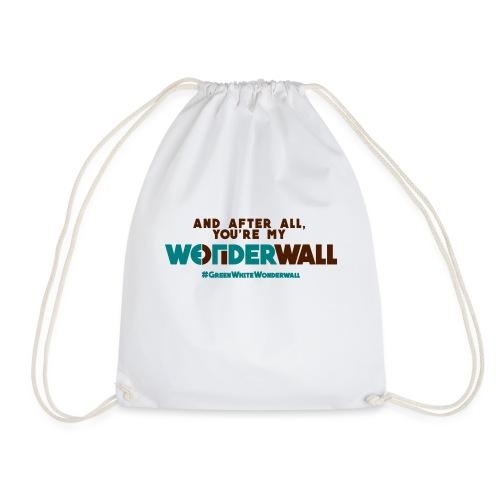 #GreenWhiteWonderwall - Turnbeutel