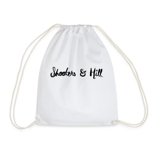 text in circle - Drawstring Bag