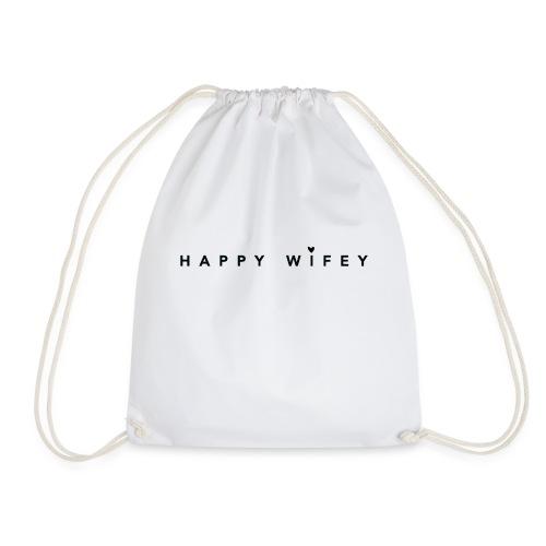 Happy Wifey - perfekter Spruch für Bräute - Turnbeutel