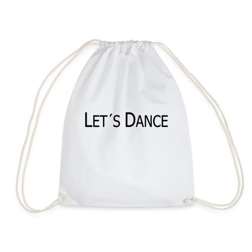 lets dance logo neu schrift 10cm - Turnbeutel