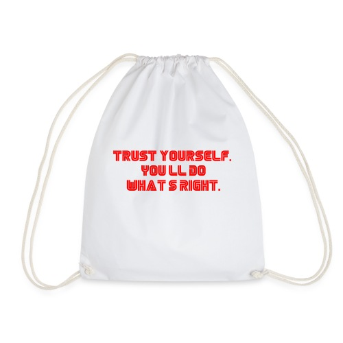 Trust yourself. You'll do what's right. #mrrobot - Drawstring Bag