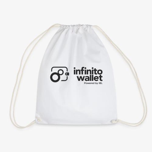 infinito wallet - logo black - Turnbeutel