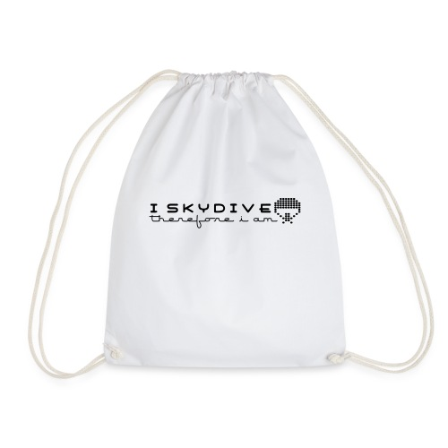 i_skydive_therefore_i_am - Drawstring Bag