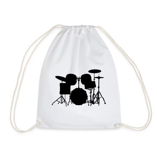 Drumset 1 Kontur schwarz - Turnbeutel