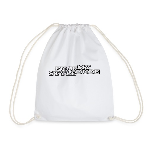 White T-Shirt - FMSD - Drawstring Bag