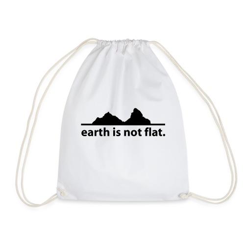 earth is not flat. - Turnbeutel