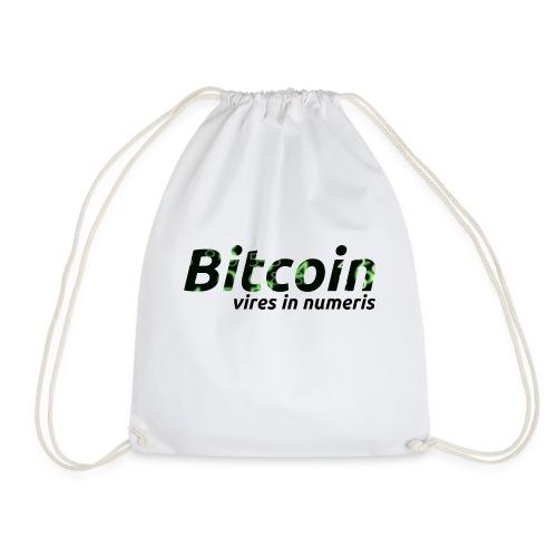 Bitcoin Matrix: Vires in numeris(Bitcoin Geschenk) - Turnbeutel