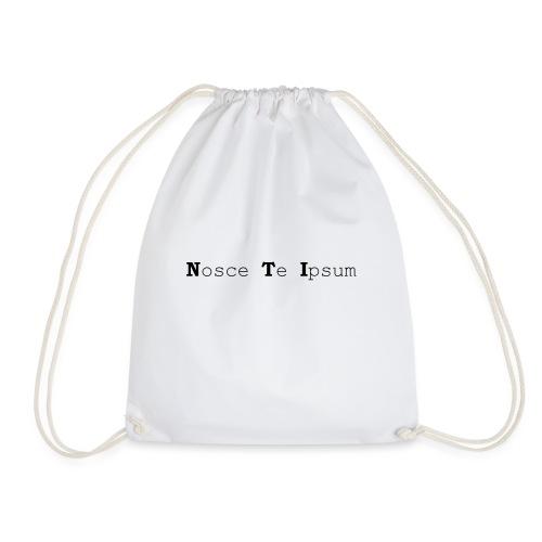 Nosce Te Ipsum - Black Text - Drawstring Bag