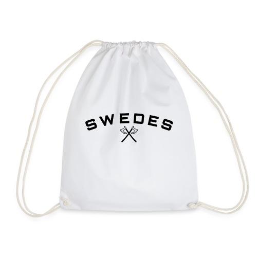 swedes, black print - Gymnastikpåse