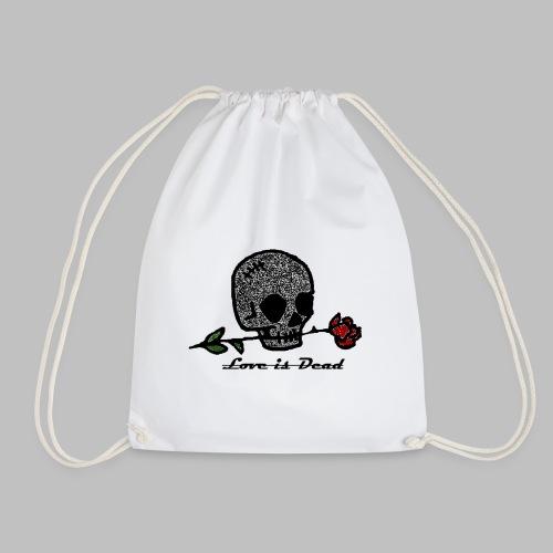 Love Is Dead Custom Skull Design - Gymtas