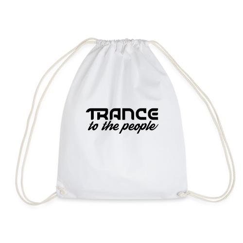 Trance to the People Sort Logo - Sportstaske
