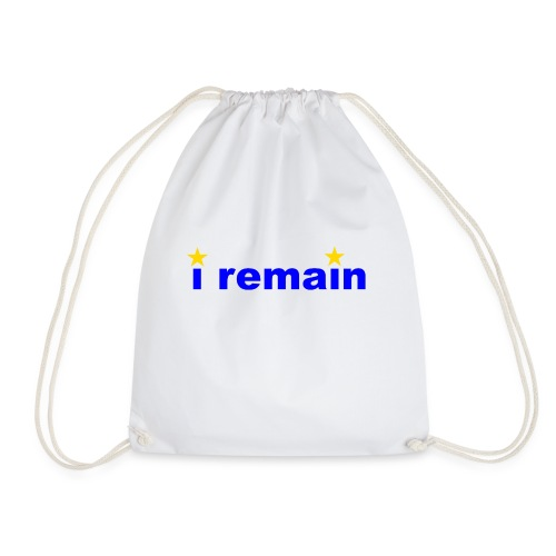 i remain - Drawstring Bag
