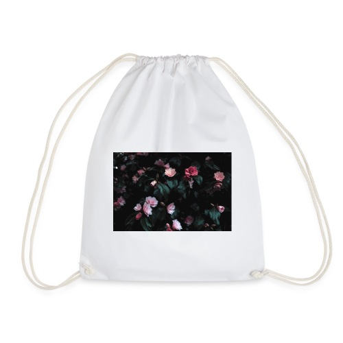 pink flowers - Drawstring Bag