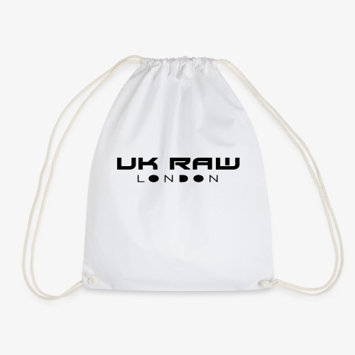 UK Raw London Black - Drawstring Bag