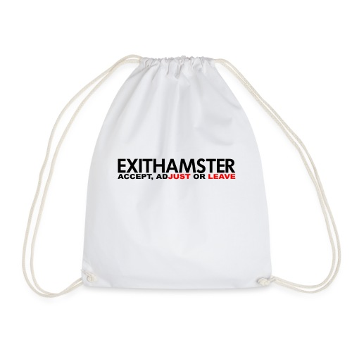 EXITHAMSTER JUST LEAVE png - Drawstring Bag