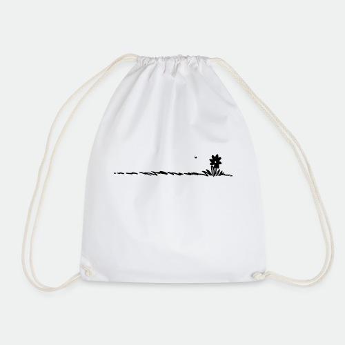 Cartoon Flower on grass - Drawstring Bag