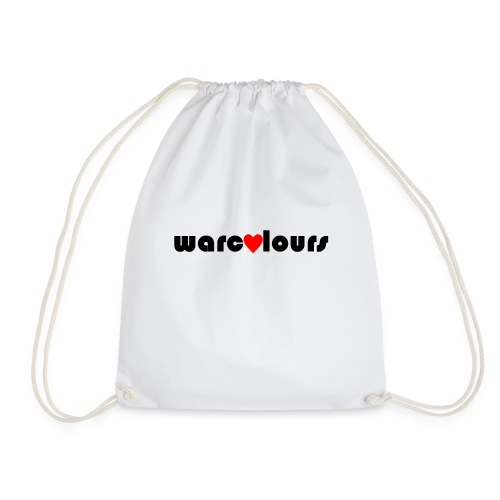 love warcolours black - Drawstring Bag
