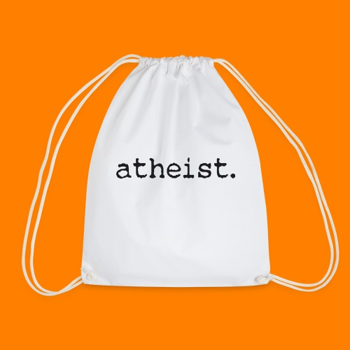 atheist BLACK - Drawstring Bag