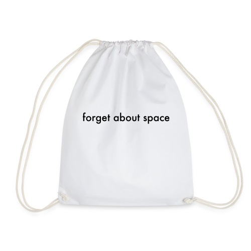 forget basic, black - Drawstring Bag