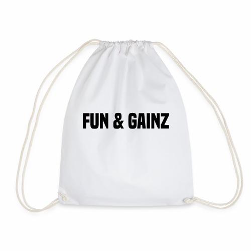 fun and gainz - Drawstring Bag
