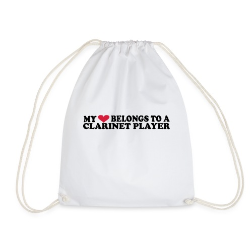 MY HEART BELONGS TO A CLARINET PLAYER - Drawstring Bag