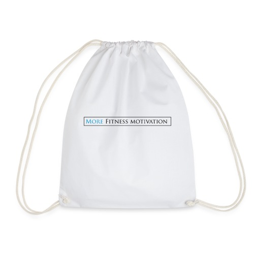 Female More fitness Motivation white/pink - Drawstring Bag