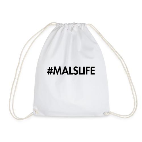 #MALSLIFE vrouwen - wit - Gymtas