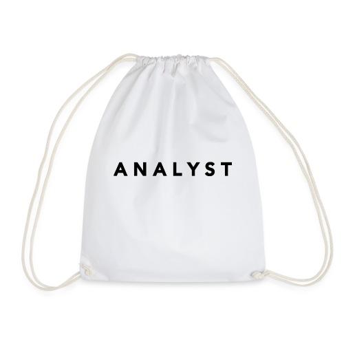 ANALYST LOGO BLACK - Drawstring Bag