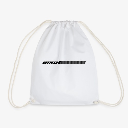bird text with lines - Drawstring Bag